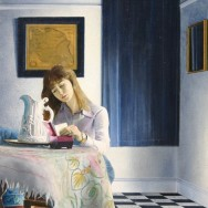 Girl Reading A Note by Richard Harby