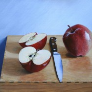 Knife & Apples by Richard Harby