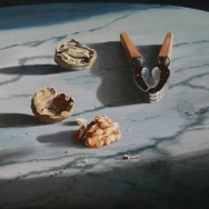 Walnut & Nut Cracker On Marble Table by Richard Harby